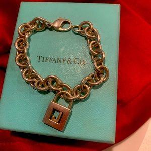 Tiffany charm initial bracelet